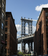 New York, Manhattan Bridge and DUMBO¬