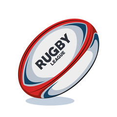 rugby ball red, white and blue design vector illustration eps 10