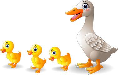 Cartoon duck family cartoon