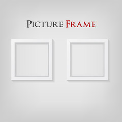 shape-3D Picture Frame Design. Perfect for your presentations. Vector Illustration.