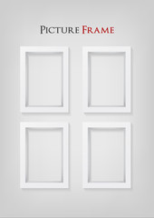 3D Picture Frame Design. Perfect for your presentations. Vector Illustration.