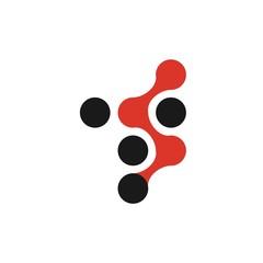 T letter initial logo design