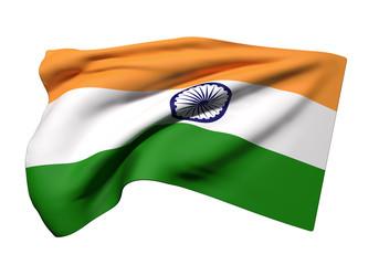 Republic of India flag waving