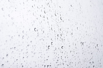 Monsoon season background with cloud and rain. water drop on the mirror. rainy day. Photo for business financial marketing banking sale advertisement concept.
