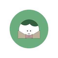 Vector illustration in flat design Halloween icon Vampire Dracula