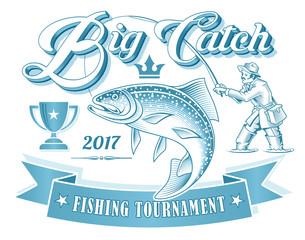 Fishing Tournament Vector Logo