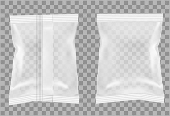 Transparent packaging for snacks, food, chips, sugar and spices