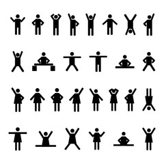 A set of stick figures, vector illustration.
