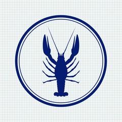 Lobster. Hand drawn sketch icon