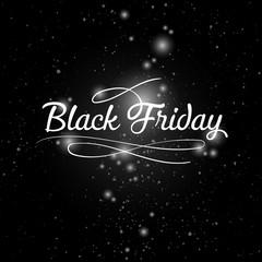 Black friday lettering background