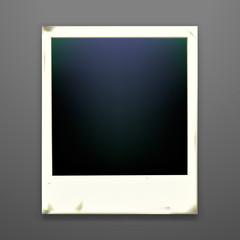 Retro photo frame on dark background