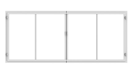 window frame isolated on white