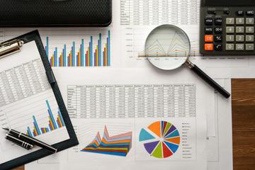 Economical stock market graph Wall mural