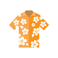 shirt hawaiian flowers vector illustration