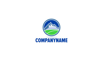 the mountain, nature, green, landscape, eco, logo