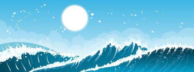 Stormy seascape background