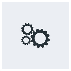 Setting flat icon, image jpg, vector eps, flat web, material icon, icon with grey background