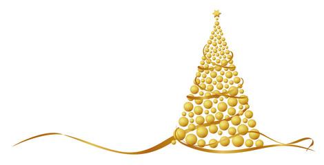 Christbaum aus goldenen Kugeln