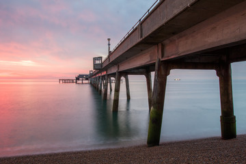 Sunrise by the pier