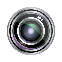 Modern vector realistic lens design isolated on white. Vector illustration