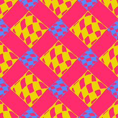 Abstract geometric colorful seamless pattern for background. Decorative backdrop can be used for wallpaper, pattern fills, web page background, surface textures