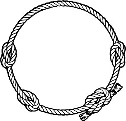 Vintage illustration rope