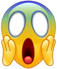 Face screaming in fear emoticon