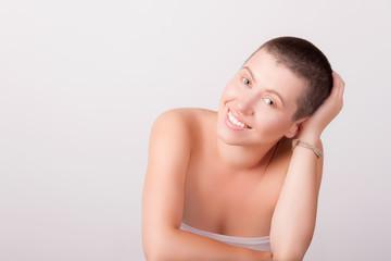 Portrait of bald girl