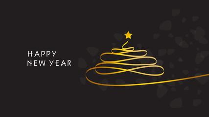 Happy new year. Christmas Tree.
