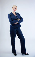 Business Woman Standing with Arms Cross