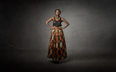 african descent in traditional dress