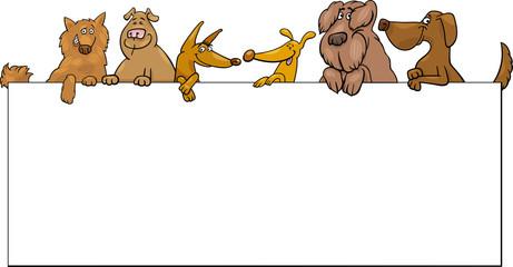 dogs with frame cartoon design