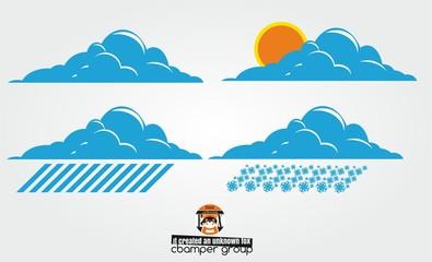 Obraz weather 4 sezon - fototapety do salonu