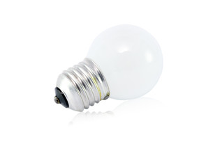 Incandescent lamp isolated on white background