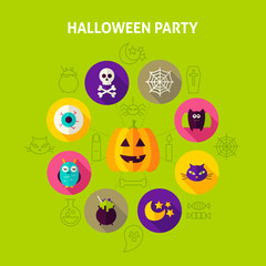 Halloween Party Infographics Concept