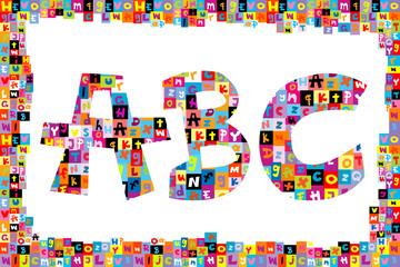 Colorful alphabet letters ABC