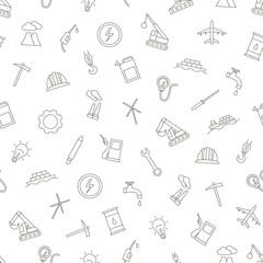 Industy pattern black icons
