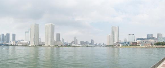 東京湾の風景(豊洲から晴海・佃島方面)