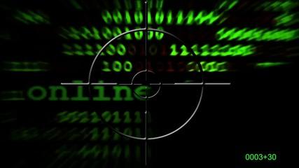 Wall Mural - Online Fraud Radar Concept