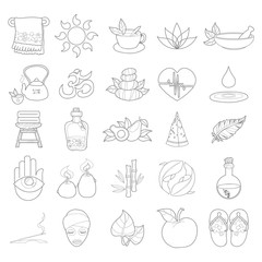 Vector outline spa icons