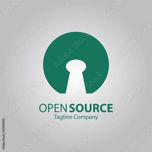 Open Source Finance Abstract Vector Logo Stock Image And