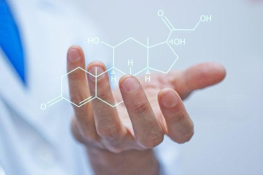 mano, molecola, cortisolo, stress, ansia