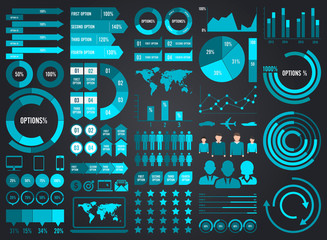 Mega Pack and Set Infographic Elements Vector Design Eps 10