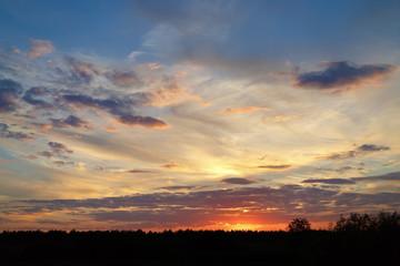 Beautiful sunset cloudscape.