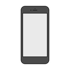 isolated smartphone icon in the style thin line flat design