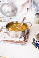 Chicken stock soup caserole.