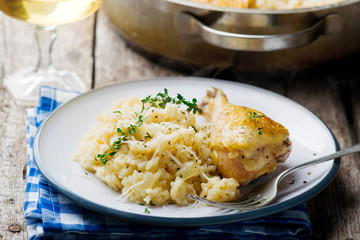 ONE POT  RISOTTO WITH CHICKEN