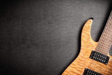 Fotoväggar - Electric guitar on dark leather background