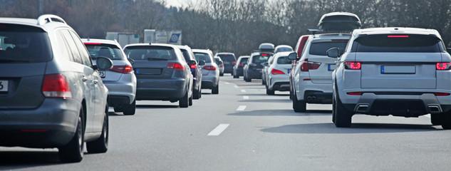 Fototapete - Stau auf der Autobahn