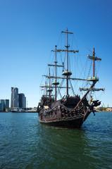 Türaufkleber Schiff Excursion boat.